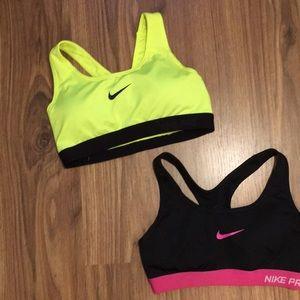 Bundle of 2 Nike Pro Sports Bras S